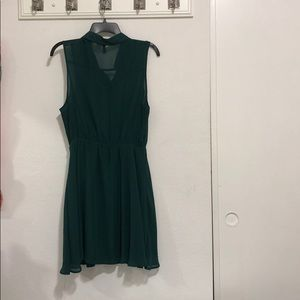 Divided Dresses - Green collared Dress